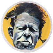 Tom Waits - He's Big In Japan Round Beach Towel