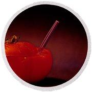 Round Beach Towel featuring the photograph Tomato Juice by Sharon Elliott