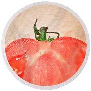 Tomato Round Beach Towel