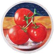 Tomatoes Round Beach Towel