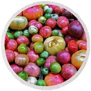 Tomatoes Round Beach Towel by Bill Owen