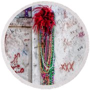 Tomb Of Marie Laveau New Orleans Round Beach Towel