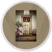 Tony Duquette's Entrance Hall Round Beach Towel