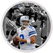 Tony Romo Cowboys Round Beach Towel