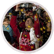 Tony Stewart Champion Round Beach Towel