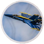 Too Close For Comfort Round Beach Towel