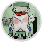 Tooth Ache Round Beach Towel