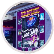 Tootsies Nashville Round Beach Towel