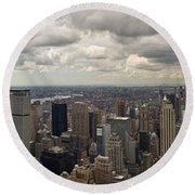 Top Of The Rock View Round Beach Towel
