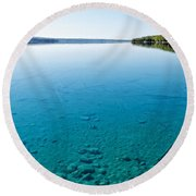 Torch Lake Round Beach Towel