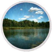 Torch River Reflections Round Beach Towel