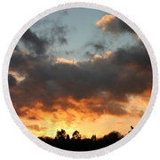 Tormented Sky Round Beach Towel