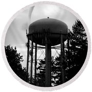 Nature Round Beach Towel featuring the photograph Tornado Tower by Aaron Berg