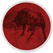 Toro Painting Round Beach Towel
