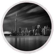 Toronto Skyline - 8 Minutes In Toronto Round Beach Towel