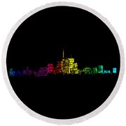 Toronto Skyline Gradient Round Beach Towel