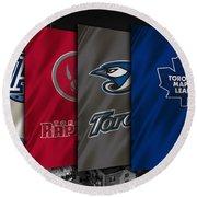 Toronto Sports Teams Round Beach Towel