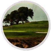 Torrey Pines Golfcourse Round Beach Towel