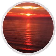 Torrey Pines Starburst Round Beach Towel