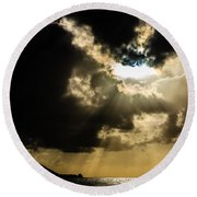 Total Solar Eclipse Breakthrough Round Beach Towel