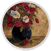 Touch Of Elegance Round Beach Towel