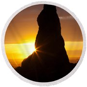 Touch Of Hope Round Beach Towel by Mark Kiver