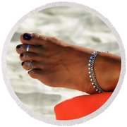 Touch Of Sun Round Beach Towel