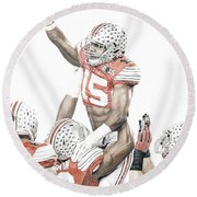 Touchdown Round Beach Towel
