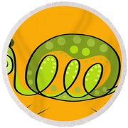 Thoughts And Colors Series Turtle Round Beach Towel