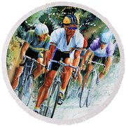 Round Beach Towel featuring the painting Tour De Force by Hanne Lore Koehler