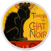 Tournee Du Chat Noir Round Beach Towel