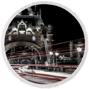 Tower Bridge London Round Beach Towel by Martin Newman