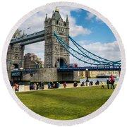 Tower Bridge Round Beach Towel by Matt Malloy