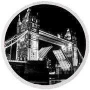 Tower Bridge Opening Round Beach Towel
