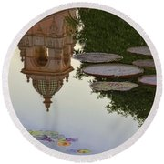 Round Beach Towel featuring the photograph Tower In Lotus Position by Gary Holmes