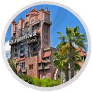 Tower Of Terror Round Beach Towel by Thomas Woolworth