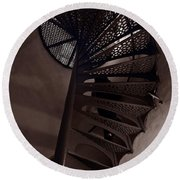 Tower Stairs Round Beach Towel