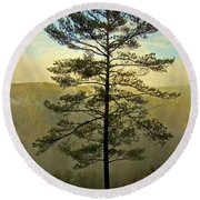 Towering Pine Round Beach Towel by Suzanne Stout
