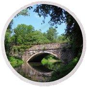 Town Creek Aqueduct Maryland Round Beach Towel