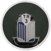 Tr3 Hood Ornament 2 Round Beach Towel