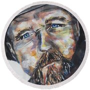 Trace Adkins..country Singer Round Beach Towel