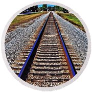 Tracks To Somewhere Round Beach Towel