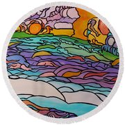 Tragic Round Beach Towel by Barbara St Jean
