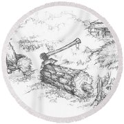 Trail Divides Round Beach Towel