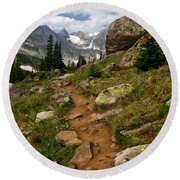 Trail To Lake Isabelle Round Beach Towel by Ronda Kimbrow