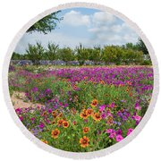 Trailing Beauty Round Beach Towel by Lynn Bauer