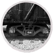 Train Car Round Beach Towel