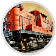 Train - Mkt 142 - Rs3m Emd Repowered Alco Round Beach Towel