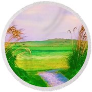 Tralee Ireland Water Color Effect Round Beach Towel