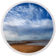 Tramore Strand And Town From The Dunes Round Beach Towel